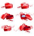 valentines gift box vector image