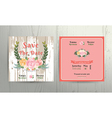 Floral roses wreath save the date wedding vector image