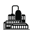 Oil refinery or chemical plant icon vector image