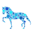 dotted horse vector image
