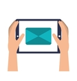 hands device tablet icon vector image