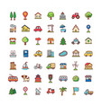icons city vector image