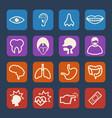medical and hospital icons set flat design set vector image