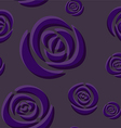 Pattern of dark purple roses vector image