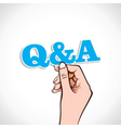 Q and A Word In Hand vector image
