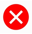 Red cross check mark icon simple style vector image