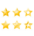 set of shiny star icons vector image