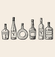 vintage hand drawn sketch style alcohol vector image