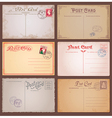 Vintage Style Postcards vector image