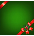 Xmas Red Ribbons With Holly Berry vector image