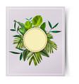 tropical leaf card vector image