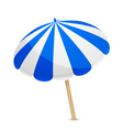 blue and white parasol vector image vector image