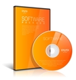 Orange Realistic Case for DVD Or CD Disk with DVD vector image vector image