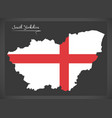 south yorkshire map england uk with english vector image