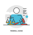 lawyer concept modern line style concept vector image vector image