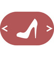 elegant high heel shoe icon vector image