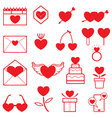 Love Objects Line Icons Set vector image