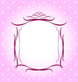 Wedding pink floral frame vector image