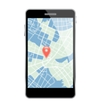 Smartphone with map vector image