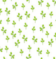 Floral pattern with abstract leaves vector image