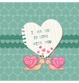 cute love card vector image