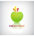 organic food logo fresh fruit vector image