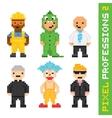 Pixel art style professions set 2 vector image