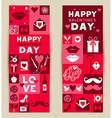 set banners of Valentines Day vector image