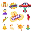 Super hero flat icons characters vector image