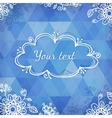 Textured vintage blue triangles vector image