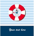 Young sailor card vector image vector image