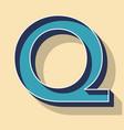 letter q retro text style fonts concept vector image