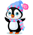 Cute winter penguin vector image vector image