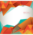 Abstract Triangle Shape Background Layout vector image vector image