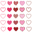 Patterned Hearts and Frames vector image