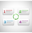 Infographics process template with set of numbers vector image vector image