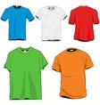 blanc tshirts set vector image vector image