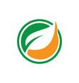 circle leaf logo image image vector image