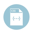 CSS file icon vector image