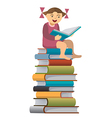 Little girl reader vector image
