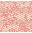 Old lace background ornamental flowers texture vector image