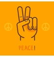 Peace sign - hand showing two fingers vector image