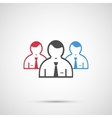 People design 3 man icon vector image