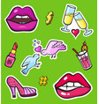 pop art style fashion stickers vector image