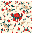 Roses Background Flowers Background Floral Pattern vector image