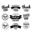 Thank you vintage label set vector image vector image