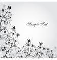 Black and white grunge flower vector image