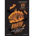 Halloween poster party vector image