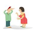 Quarrel vector image vector image