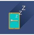 Flat icon with long shadow mobile phone sleeps vector image